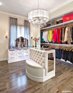White Wood Custom Closet Inspiration