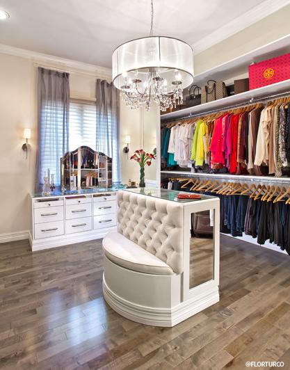 White Wood Custom Closet Inspiration ...